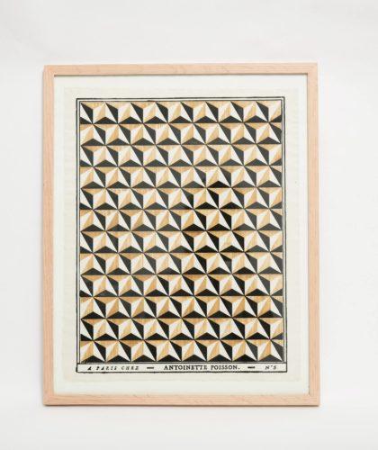 The Garnered - Black Yellow Framed Print Antoinette Poisson The Garnered 001