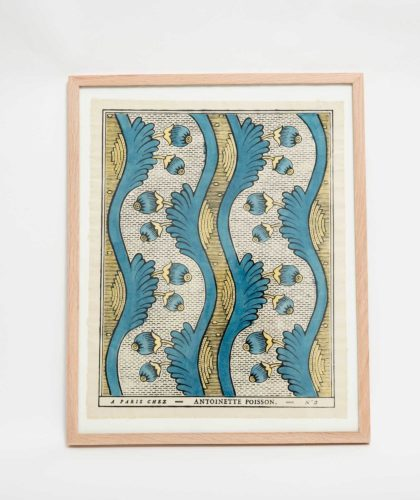 The Garnered - Blue Yellow Framed Print Antoinette Poisson The Garnered 003